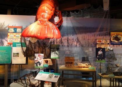 Bâton-Rouge - Capitol Park Museum - N'oublions pas que cette partie de la Louisiane est considérée comme étant la capitale mondiale de l'écrevisse !