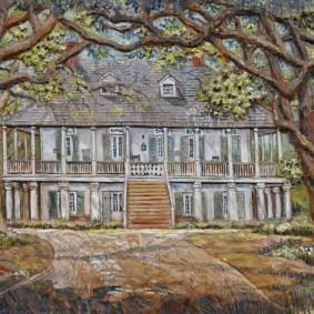 Bâton-Rouge - LSU Rural Life Museum - Tableau en bois