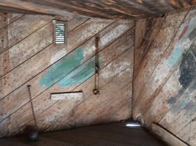 Bâton-Rouge - LSU Rural Life Museum - Prison en bois, dont les murs étaient composés de planches épaisses renforcées par des milliers de clous...