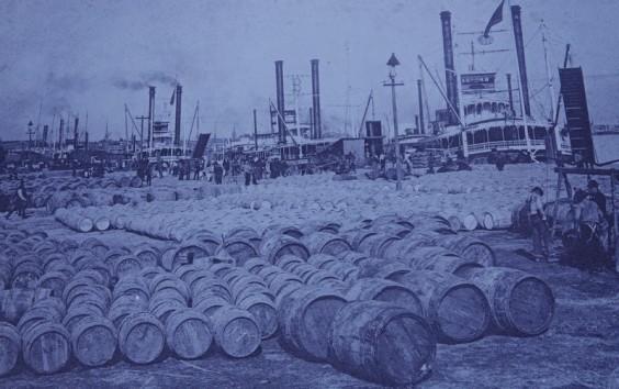 New Orleans - Au bord du Mississippi - Natchez - Barils de sucre
