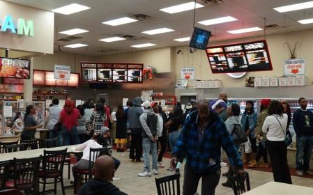 New Orleans - Restaurant sino-cajun : longue queue pour passer commande !