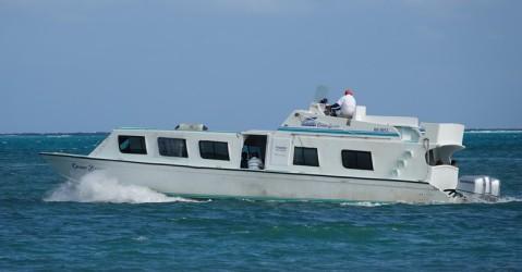 Caye Caulker - Le bateau qui effectue la liaison avec le continent
