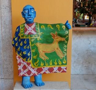 Valladolid - Casa de los Venados - Représentation du drapeau du Yucatan avec le chevreuil pour emblème