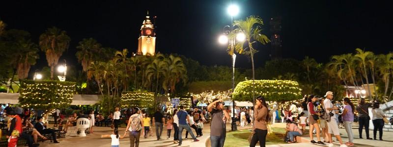 De jour et de nuit à Mérida, le pôle culturel duYucatan