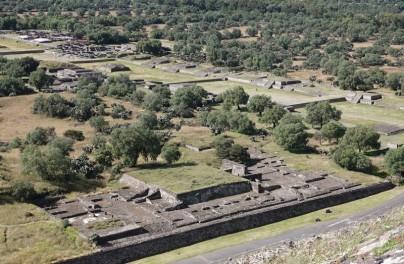 Site archéologique de Teotihuacan - Vue du sommet de la Pyramide du Soleil