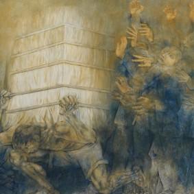 Merida - Plaza Grande - Palacio de Gobierno - Fresque de Fernando Castro Pacheco - Exploitation des Indiens dans la culture du sisal