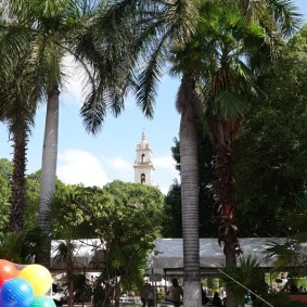 Merida - Plaza Grande vue depuis le Palacio Municipal