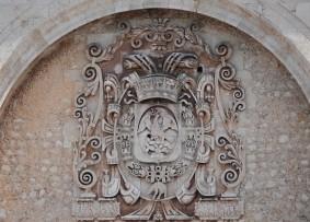 Merida - Plaza Grande - Cathédrale San Idefonso vue depuis le Palacio Municipal