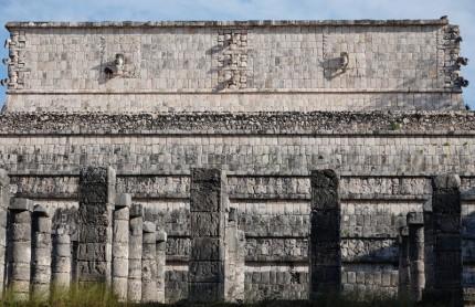 Chichen Itza - Site archéologique - Place des Mille Colonnes