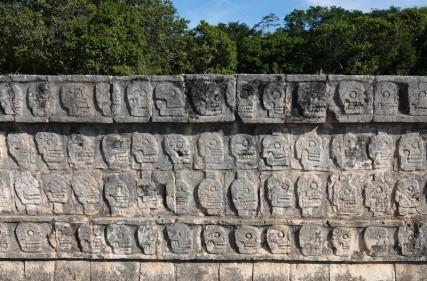 Chichen Itza - Site archéologique - Plateforme des Crânes
