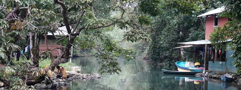 Journée de folie (et bien sportive) : kayak sur le fleuve Rio Dulce et rando dans une jungle très boueuse!