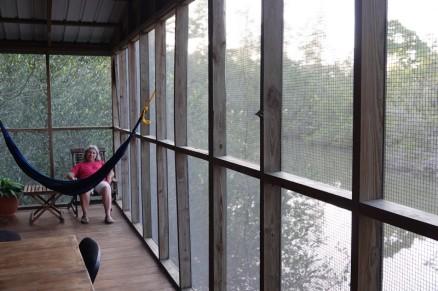 Lodge du Zoo de Belize - Sur notre terrasse...