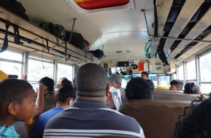 Dans le bus pour San Ignacio...