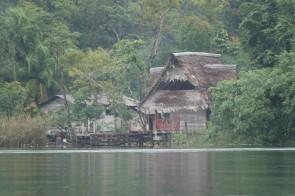 Rio Dulce - A bord de la lancha municipale, en direction de Barra Lampara