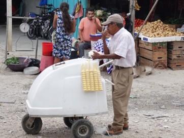 Flores - Marché - Vendeur de glaces