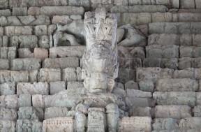 Site archéologique des Ruines de Copan - Escalier des Hiéroglyphes, détail