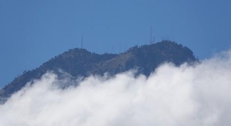 Antigua - Vue depuis le Cerro de la Cruz - En haut...