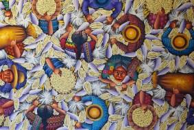 Antigua - Couvent Santo Domingo - Expo de peintures guatémaltèques