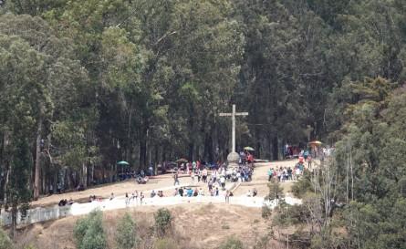 Antigua - Le Cerro de la Cruz vu depuis le centre-ville