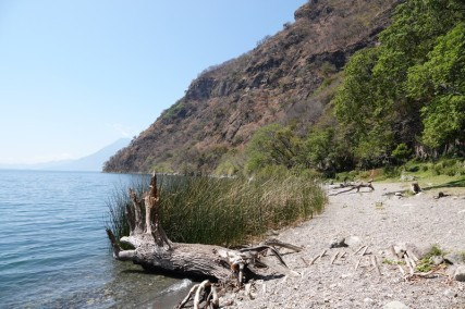 Reserva Natural Atitlan - Arrivée sur la plage !
