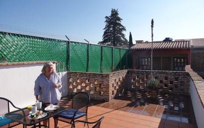 San Cristobal de Las Casas - Petit-déjeuner sur la terrasse