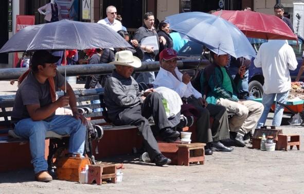 San Cristobal de Las Casas - Cireurs de chaussures