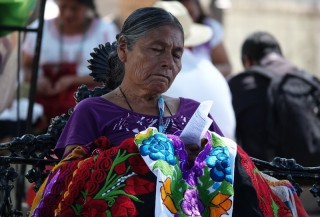 Oaxaca - Zocalo - Journée internationale des langues d'origine