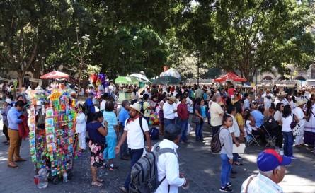 Oaxaca - Zocalo - Journée internationale des langues d'origine