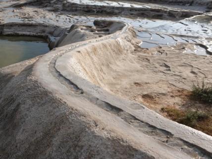 Hierve El Agua - Canal d'irrigation préhispanique