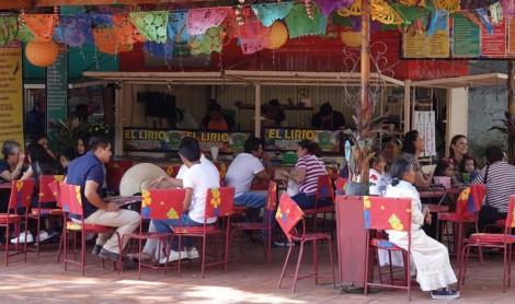Oaxaca - Vers la Basilique de la Soledad - Un des nombreux glaciers présents sur la place !