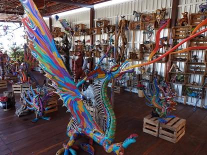 Vers Oaxaca - Atelier d'Alebrijes