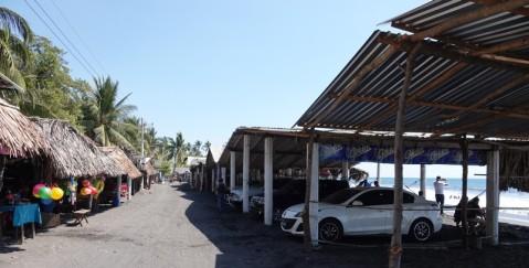 El Sunzal - Places de parking / pique-nique... avec vue sur mer !