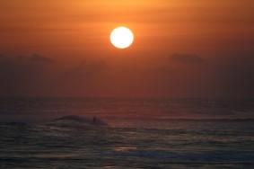 El Tunco - Coucher de soleil depuis la plage
