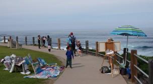La Jolla - Il y a beaucoup de peintre sur la promenade...