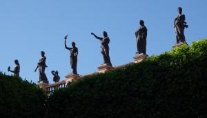 Guanajuato - Depuis le Jardin de la Union, vue sur le Théâtre Juarez