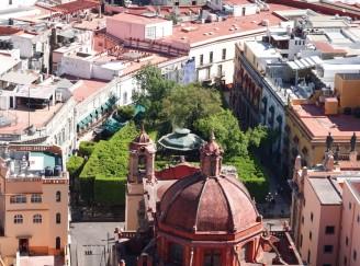 Guanajuato - Vue depuis le mirador El Pipila - Jardin de la Union