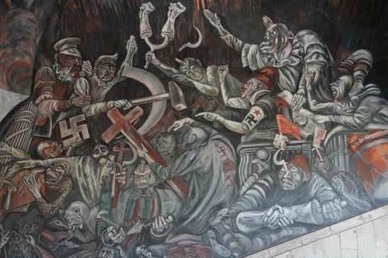 Guadalajara - Palais du Gouvernement - Fresque de José Clemente Orozco