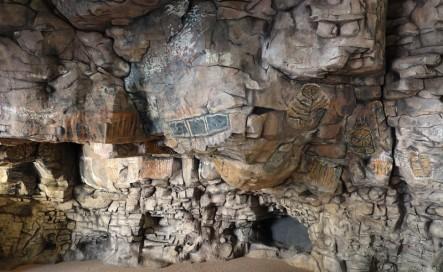 Loreto - Museo de la Mision - Réplique de peintures rupestres datant des peuples natifs de la région