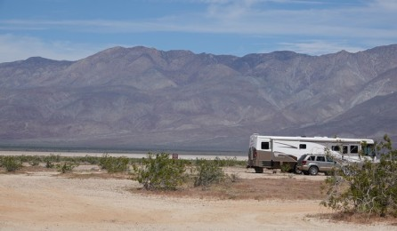 Route 78, désert d'Anza-Borrego - Camping sauvage !