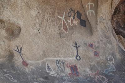 Joshua Tree National Park - Barker Dam - Pétroglyphe (réplique)