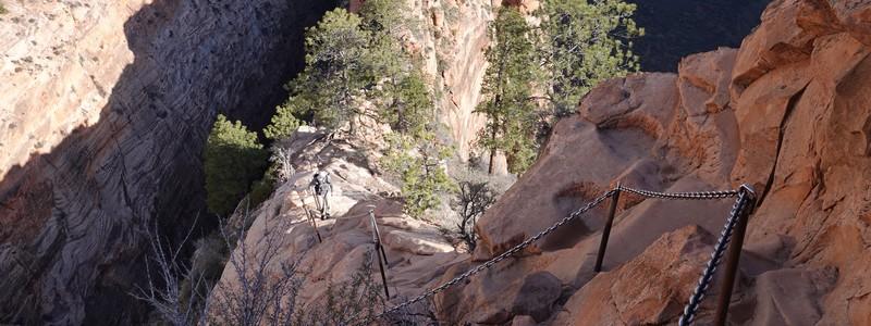 Sur le Angels Landing Trail, la rando mythique (et dangereuse !) du Parc national deZion