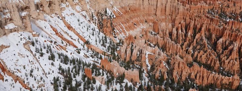 Les pieds dans la neige, à Bryce Canyon et RedCanyon
