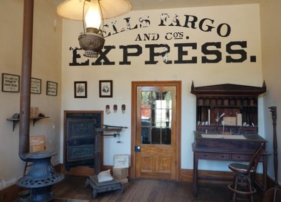 Columbia State Historic Park - Avant d'être une banque et une compagnie d'assurance, Wells Fargo fut une société de transport...