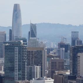 San Francisco - Vue sur Financial District depuis Corona Heights Park