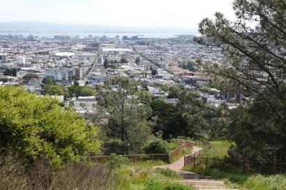 San Francisco - Vue sur Castro depuis Corona Heights Park