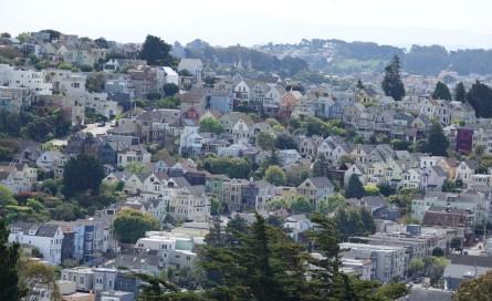 San Francisco - Vue sur les hauts de Castro depuis Corona Heights Park