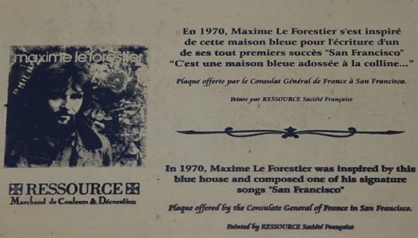 San Francisco - Entre Castro et Mission District, la maison bleue de Maxime le Forestier