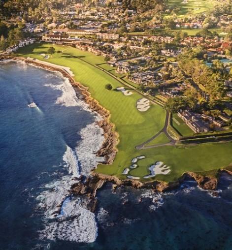 17-Mile Drive - Pebble Beach Golf - Vue aériennes du golf (Visitor Center)