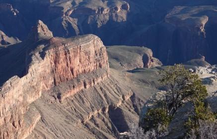 Arizona – Grand Canyon – South Rim, rando sur le trail qui longe Hermit Road