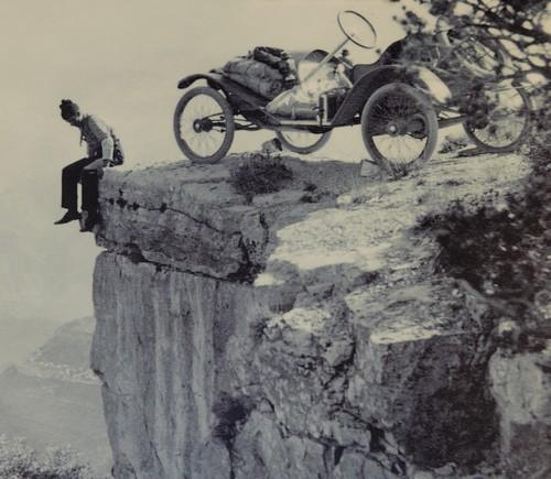 Arizona – Grand Canyon – South Rim, rando sur le trail qui longe Hermit Road - Débuts du tourisme !